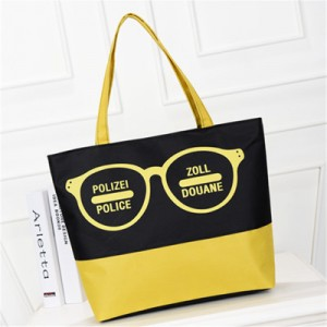 Пляжная сумка арт 0763 желтые очки