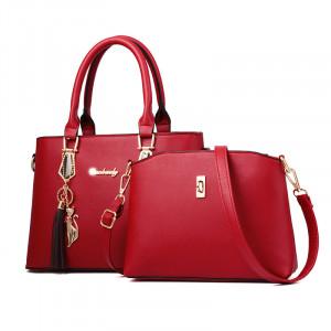 Пляжная сумка арт 0763 красный сингапурский медведь