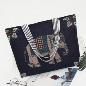Дорожная сумка арт 0765 синий слон
