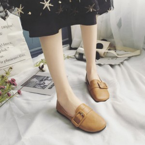 Обувь женская арт ОЖ92 кнопки цвет:коричневый