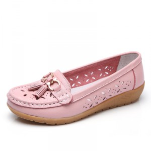Мокасины женские арт ОЖ292 цвет:розовый вырез