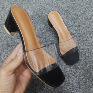 Туфли женские арт ОЖ299 цвет:черный широкий каблук
