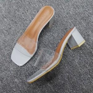 Туфли женские арт ОЖ299 цвет:серый широкий каблук