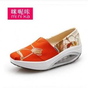 Кроссовки женские арт Ф1550-3 оранжевый