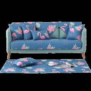 Дивандек арт ДК4, цвет:синий фламинго