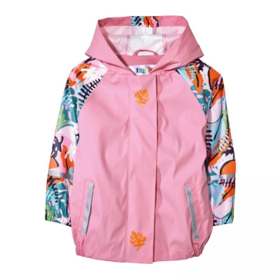 Водоотталкивающая куртка арт НК6, цвет:розовая печать
