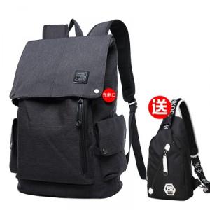 Рюкзак мужской арт МК37 черный набор